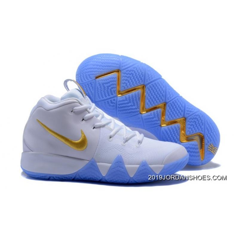 27ab34566477 Best Nike Kyrie 4 White Gold ...