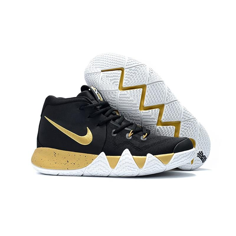 best website 6895c f0fba Discount Nike Kyrie 4 Black Gold White