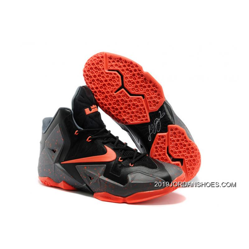 a963e1f02653 2019 Best Nike LeBron 11 Dark Grey Black-Orange ...