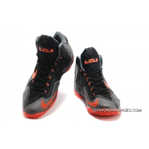 f92961c17f25 ... 2019 Best Nike LeBron 11 Dark Grey Black-Orange ...