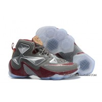 """Nike LeBron 13 """"Opening Night"""" Fine Wine/Wolf Grey Basketball Shoes 2019 Super Deals"""