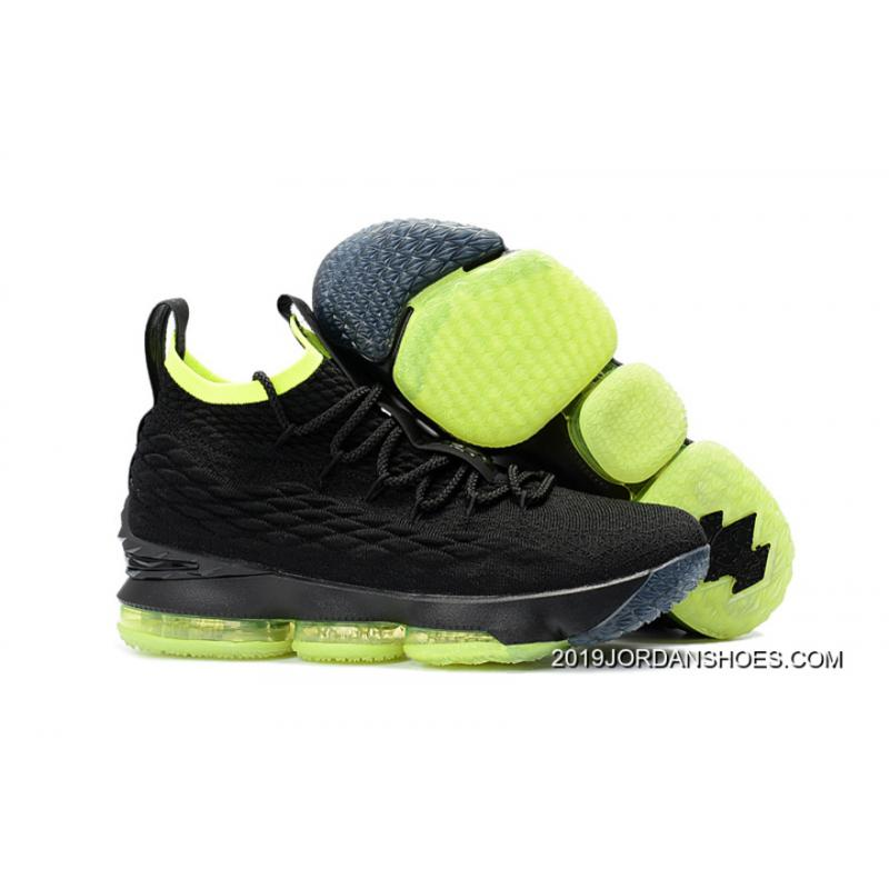 6bf8ceb146f9 ... 50% off 2019 best nike lebron 15 black volt shoes online e4499 e3a75