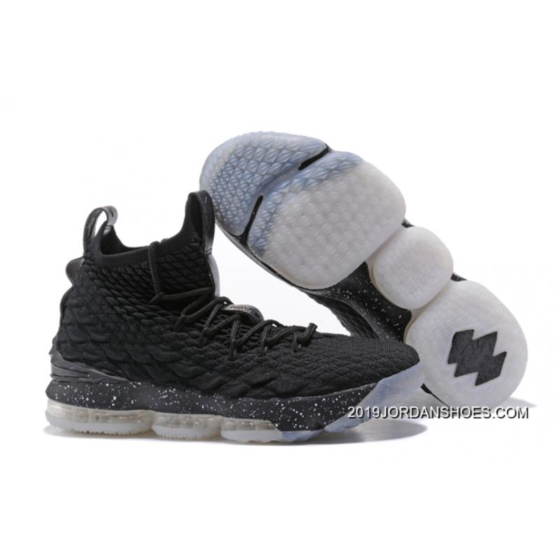 "2070cbe7624f Nike LeBron 15 ""Oreo"" Black White Shoes 2019 Latest ..."