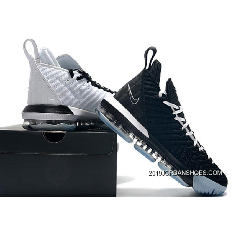 "pretty nice af3bc a0c7f Nike LeBron 16 ""Equality"" Black & White Shoes Discount"