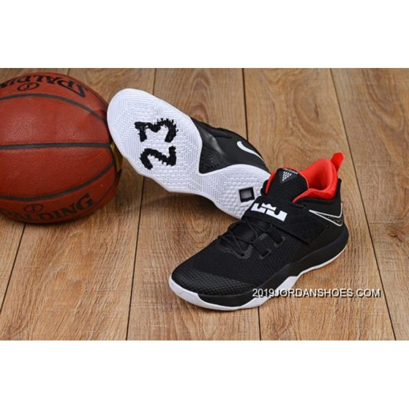 5d56dd47da8e Latest Nike LeBron Ambassador 10 Black White-Red ...