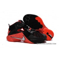 2019 New Release Nike LeBron Soldier 9 Black Red Basketball Shoe