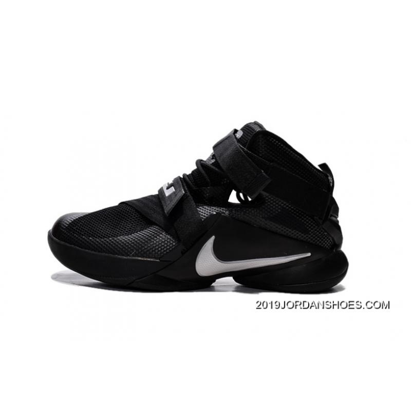"7f4ccfd6a94 ... 2019 Online Nike LeBron Soldier 9 ""Blackout"" All Black Basketball Shoe"