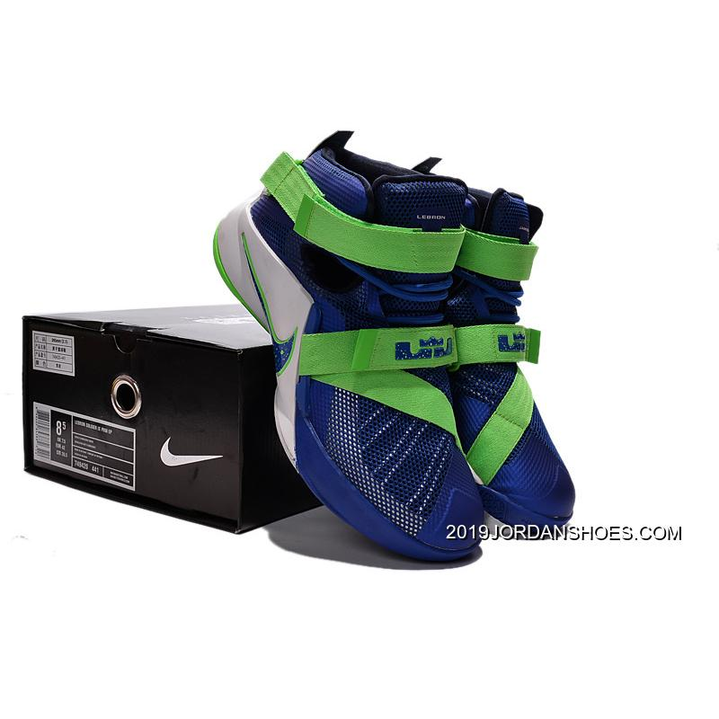 """best website b6ca6 9fc35 Nike LeBron Soldier 9 """"Sprite"""" Basketball Shoe 2019 Authentic, Price ..."""