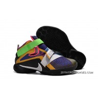 "2019 For Sale Nike LeBron Soldier 9 ""What The LeBron"" Multi Color/Black-White Basketball Shoe"