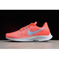 Women New Release WMNS Nike Air Zoom Pegasus 35 Bright Crimson/Ice Blue-Sail 942855-600 Running Shoes