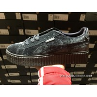 Women/Men Rihanna X PUMA Creeper Velvet Pack Grey For Sale