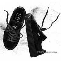 Discount Puma By Rihanna Suede Creepers Black Mens Womens Shoes