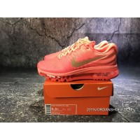 New Year Deals 851623-800 Nike Air Max 2017 Full-palm Cushion Breathable Running Shoes Women Shoes
