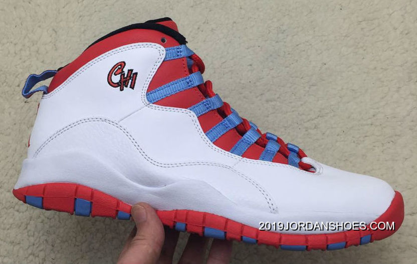 "306e54170057 Air Jordan 10 ""Chicago Flag"" 2019 New Style"