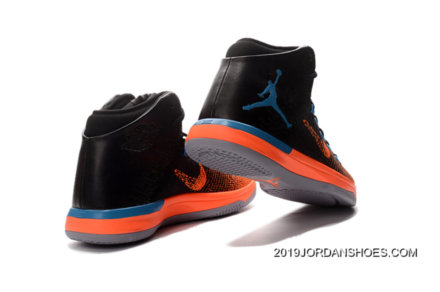 best service fc979 96b2f 2019 Discount Air Jordan XXX1 Black Orange Blue Basketball Shoes