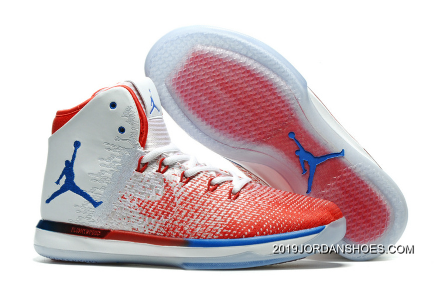 "huge discount 335ae 979bf Air Jordan XXXI ""Olympics"" USA White University Red Deep Royal Blue 2019  Latest"