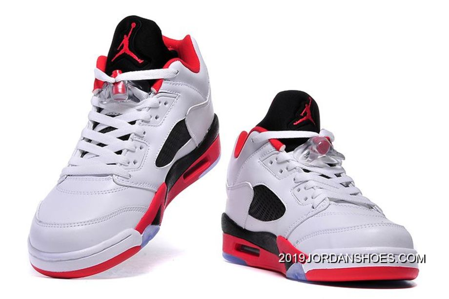 """save off 34129 00619 2019 For Sale Air Jordan 5 Low """"Fire Red"""" White Fire Red-"""