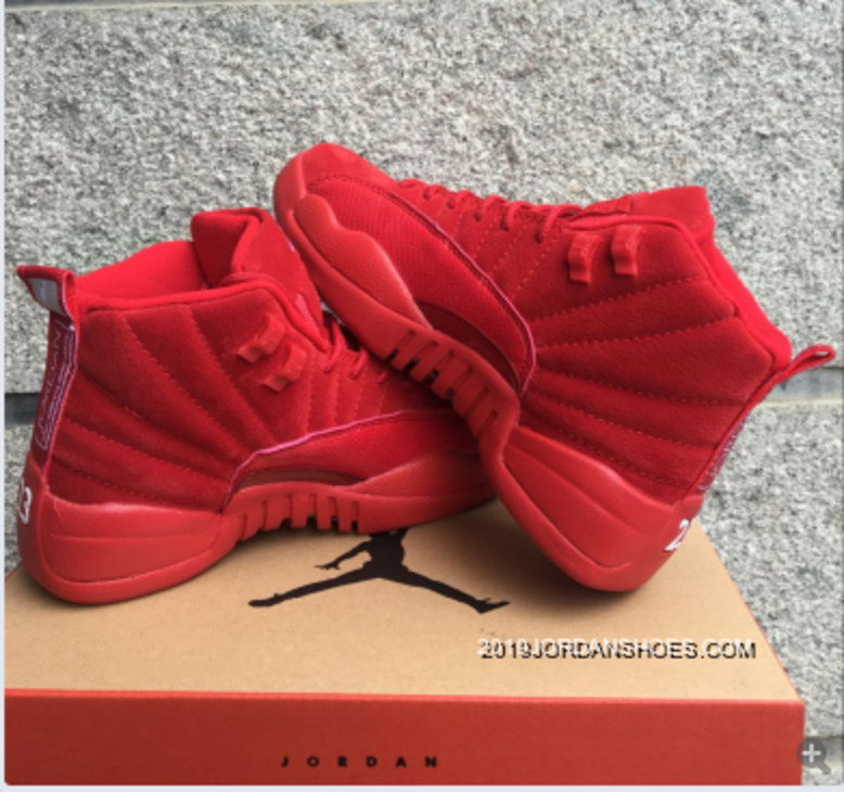 """official photos 6a81c b3c70 2019 New Style Air Jordan 12 GS """"Red Suede"""""""