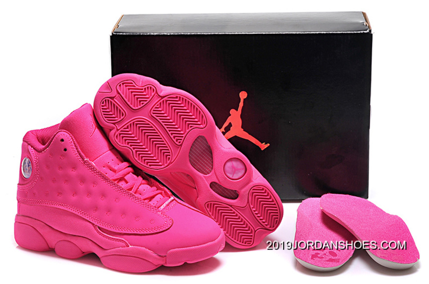 d7a0bb8aab5c 2019 Latest Air Jordan 13 GS All-Pink Shoes