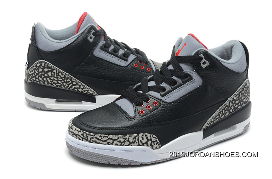 "new product b29ad cc002 Air Jordan 3 Retro ""Black Cement"" Black Varsity Red-Cement Grey 2019"