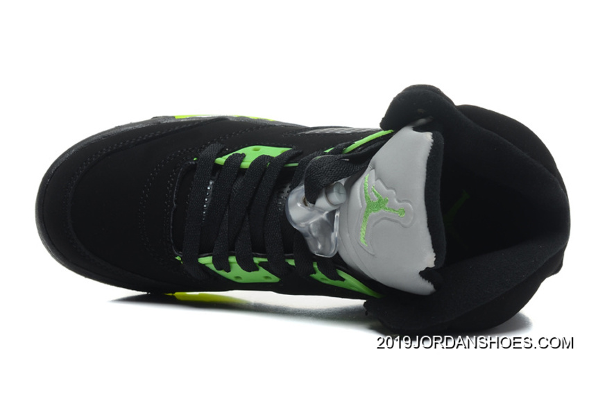 "more photos 07547 2b86e 2019 Online Air Jordan 5 Retro ""Quai 54″ Black Radiant Green"