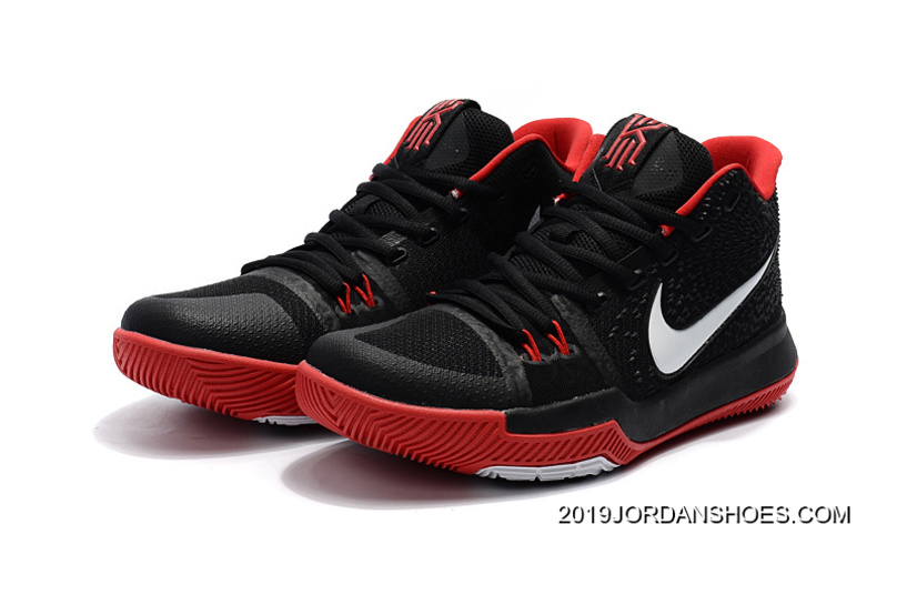 kyrie 3 black and red