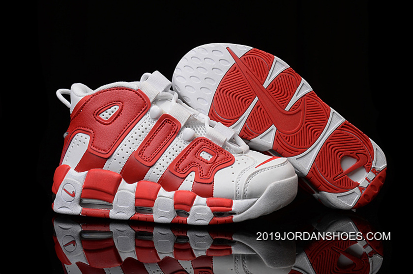 c9df1ed7281d 2019 New Release Nike Air More Uptempo White Gym Red