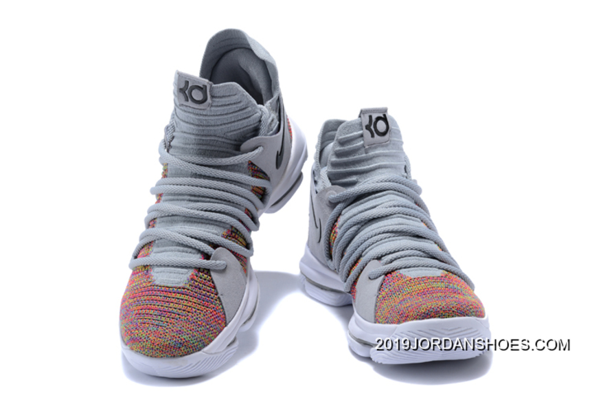sneakers for cheap ed734 bc7d1 Best Nike KD 10 Multi-Color/Black-Cool Grey-White, Price: $94.82 ...
