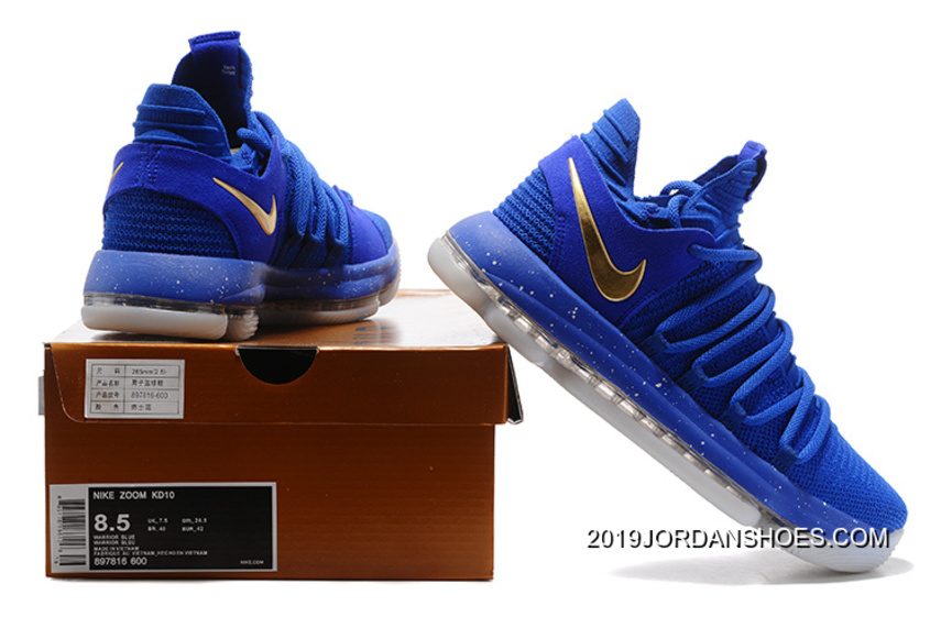 b08335acdfd0 Nike KD 10 Finals PE Blue Gold For Sale