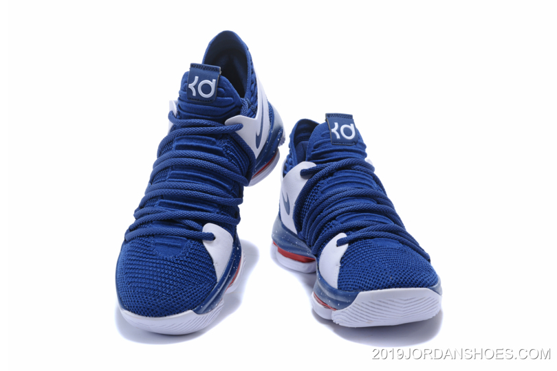 low priced 42a8c 296af Nike KD 10 Navy Blue/White-Red Latest