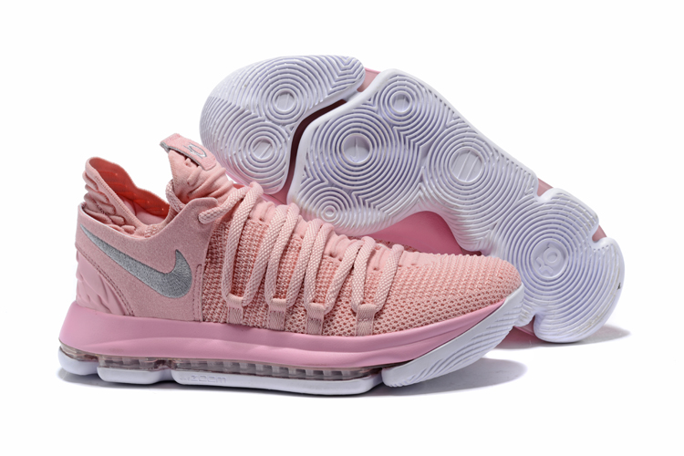 kd 10 pink and white Kevin Durant shoes