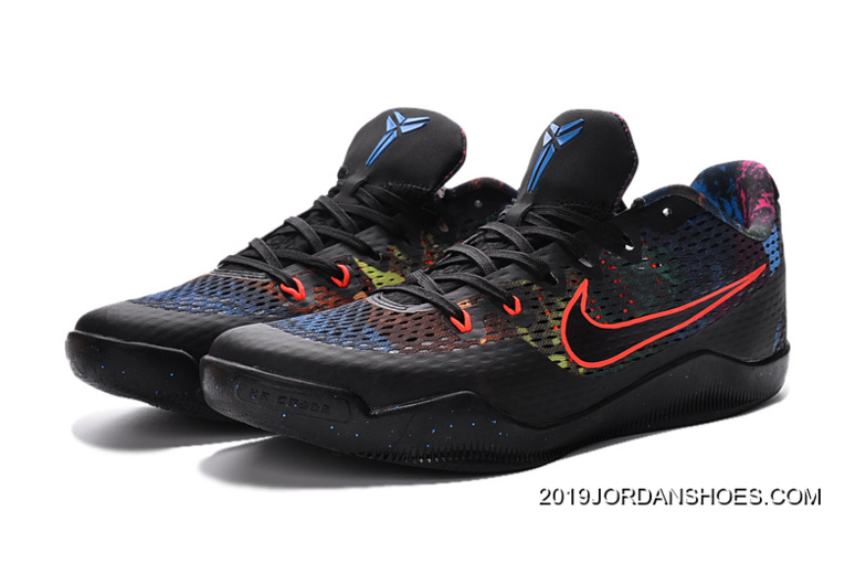 low priced 9398f 33a66 Nike Kobe 11 Black Colorful Basketball Shoes 2019 Super Deals
