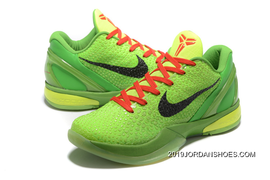 e415bd32735 2019 Top Deals Nike Zoom Kobe 6 Grinch Christmas Green Mamba Basketball  Shoes