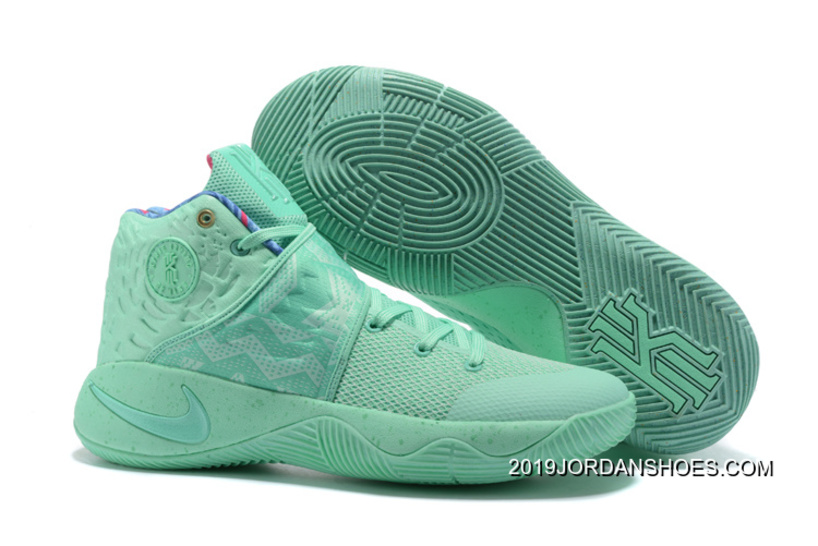 """d3c9f779dd04 Nike Kyrie 2 """"What The"""" Green Glow Green Glow 2019 New Release ..."""