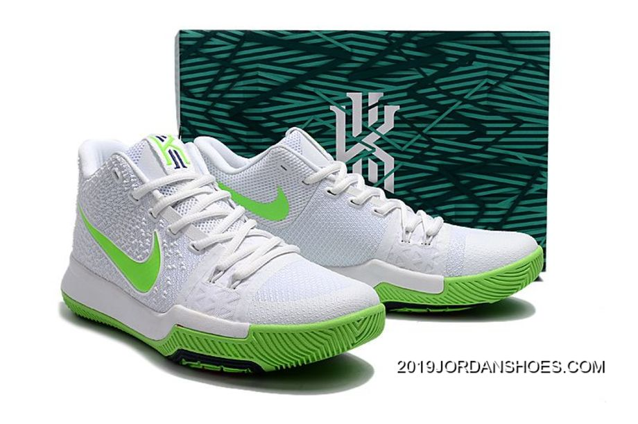 differently 23fc9 d6134 Nike Kyrie Irving 3 Mountain Dew K.A.R.E. Kit White Green 2019 New Year  Deals