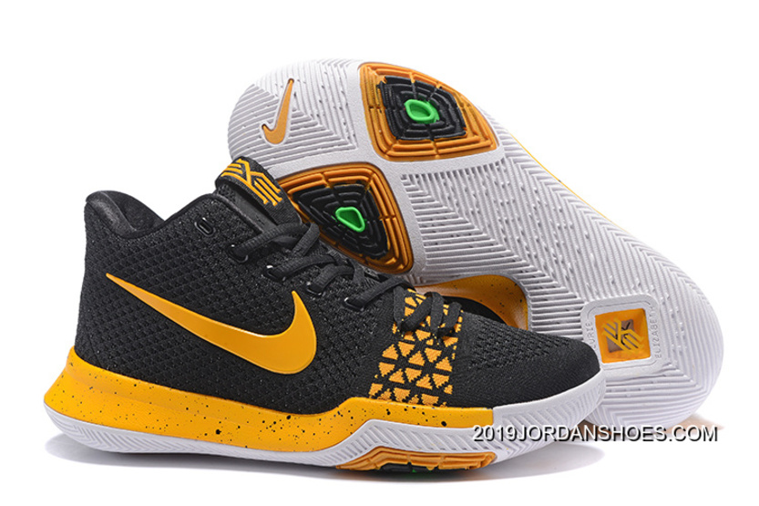 "low priced d13bf 8a726 Nike Kyrie 3 ""Black Yellow"" 2019 New Style"