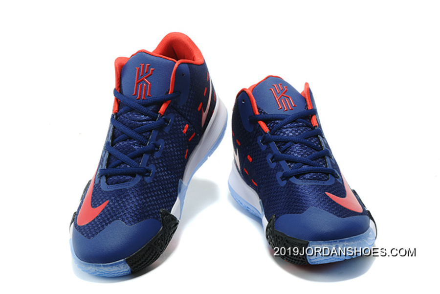 93c94e7003d Nike Kyrie 4 Navy Blue Red White New Release