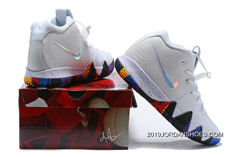 """super cute 0a94b ac776 Discount Nike Kyrie 4 NCAA """"March Madness"""" White/Multi-Color"""