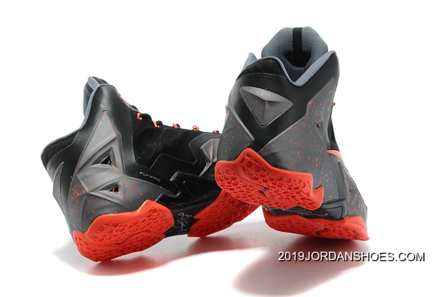 005bda552d62 2019 Best Nike LeBron 11 Dark Grey Black-Orange