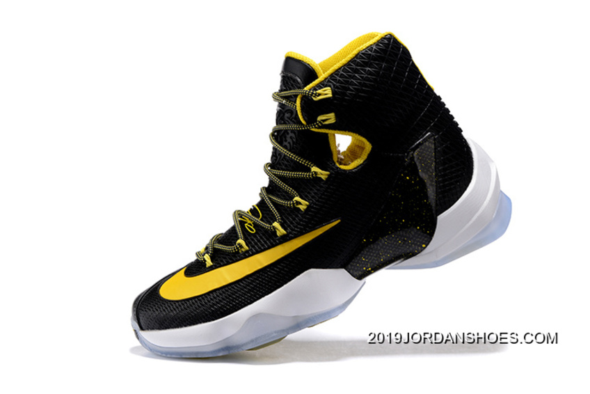 8de214c08927 Nike LeBron 13 Elite Black Yellow-White Basketball Shoes 2019 Copuon ...