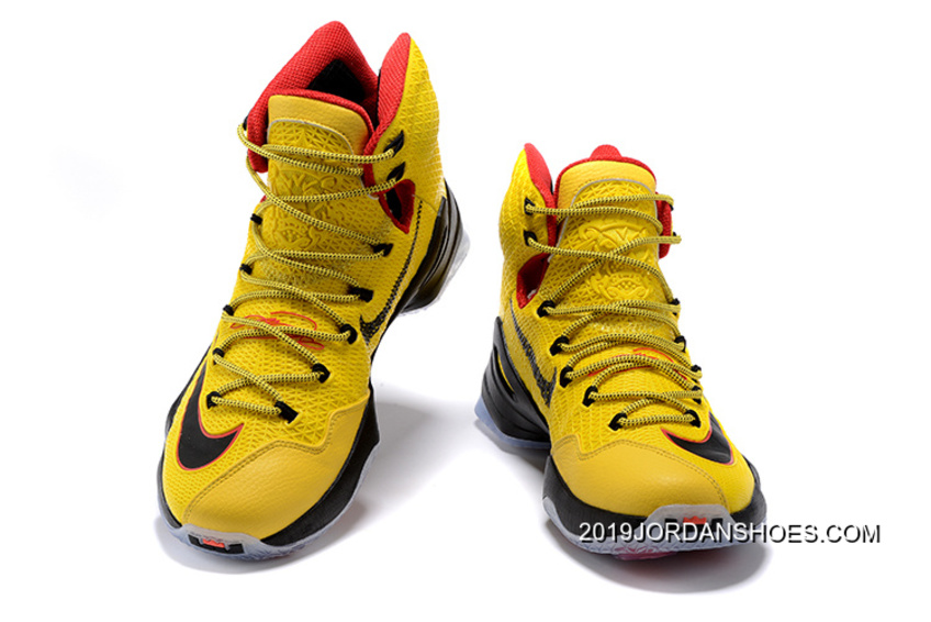 c348e5057fe 2019 Outlet Nike LeBron 13 Elite Yellow Black-Red