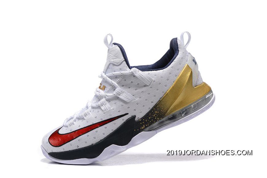 "aaf64c99ef38c 2019 Outlet Nike LeBron 13 Low ""USA"" Olympic Shoes"