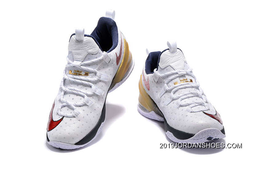 """2dd1f2fcf74d5 2019 Outlet Nike LeBron 13 Low """"USA"""" Olympic Shoes"""