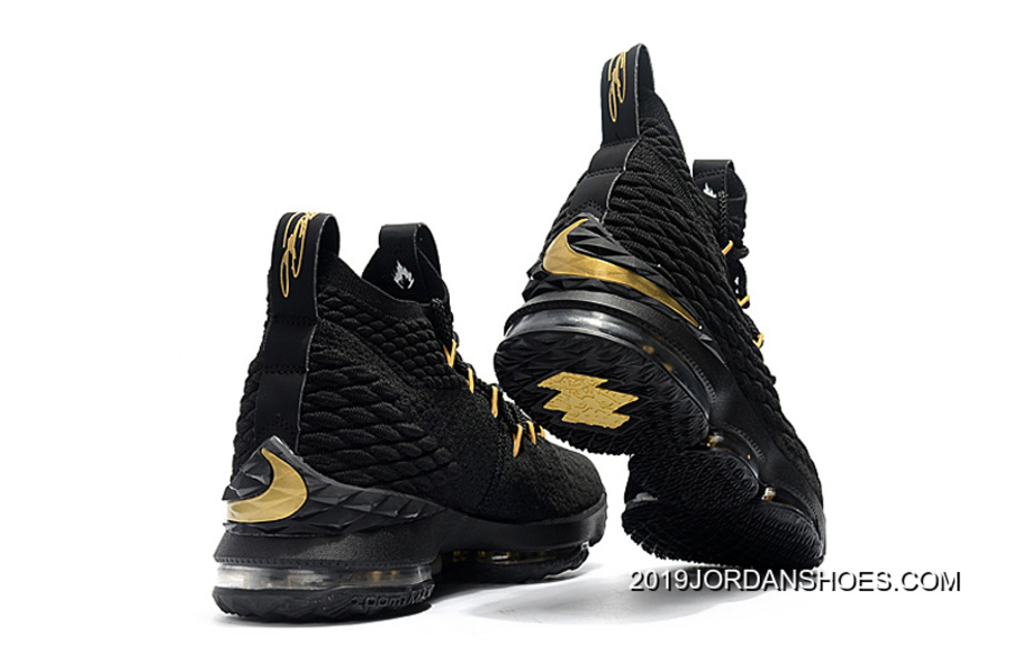 732edb80884b Super Deals Nike LeBron 15 Black And Gold