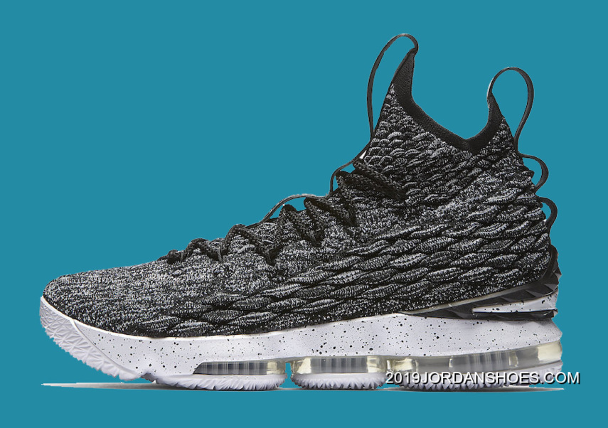 a12b5777a52fb Nike LeBron 15  Ashes  Black And White-White New Year Deals