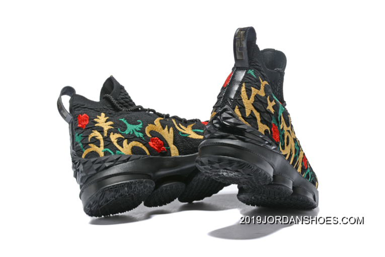 5c6044a553f Discount Kith X Nike LeBron 15  Long Live The King  Black Gold ...