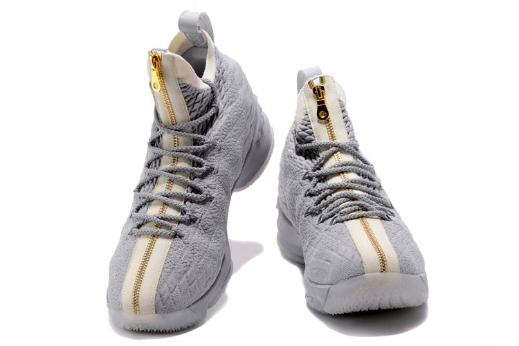 806e3f9f571 Nike LeBron 15 Cool Grey Metallic Gold For Sale, Price: $93.90 ...