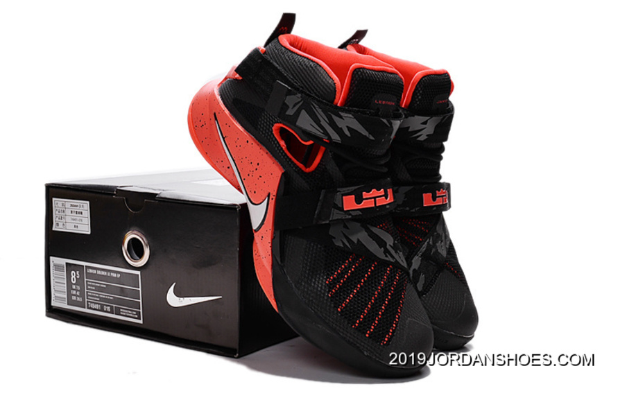 3c15fb413d732 2019 New Release Nike LeBron Soldier 9 Black Red Basketball Shoe ...