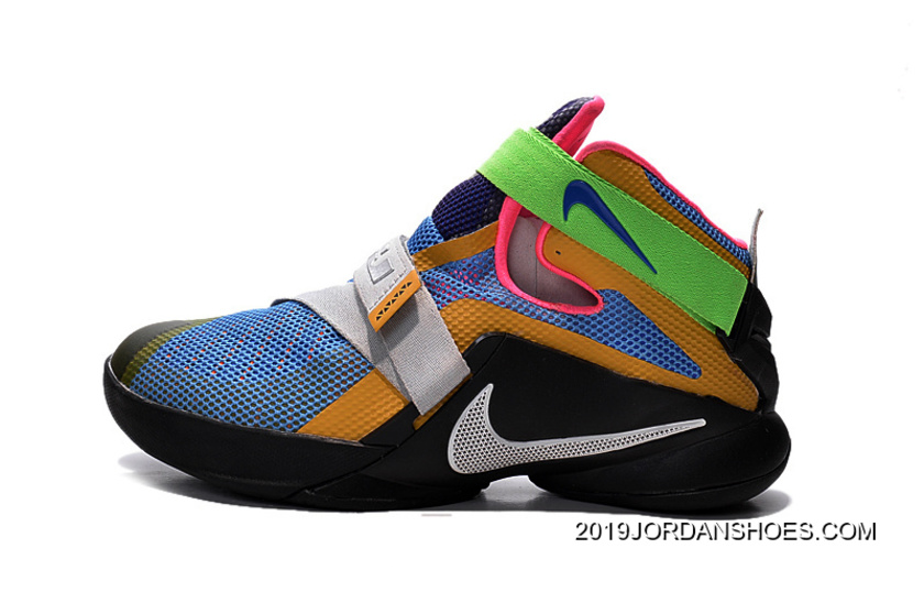 "d28b6a9ffb1 2019 For Sale Nike LeBron Soldier 9 ""What The LeBron"" Multi Color Black"